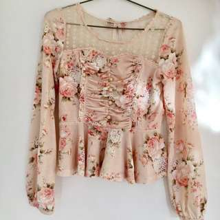 Liz Lisa long sleeve floral top