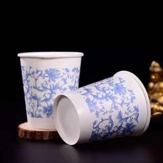 [全新]加厚青花瓷造型紙杯 245ml 50入