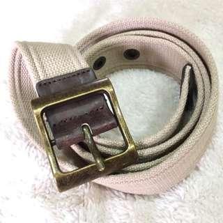 Men's Cotton-Polyester Light Khaki Belt (L-XL)