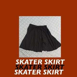 Black Unbranded Skater Skirt