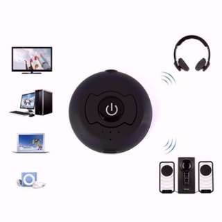 Portable Stereo Wireless Bluetooth 4.0 Music Transmitter Adapter Dongle for TV/Desktop/Laptop/Tablet/MP3/MP4 Player/CD/DVD Players and all other Audio Devices with 3.5mm Audio-out Jack Support Two Devices Streaming Simultaneously