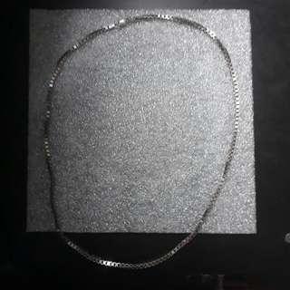 925純銀方型銀鍊