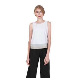 Ellysage Gradient Hem Top White