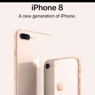 Brand new iphone 8 PLUS 64GB GOLD (APPLE SET)