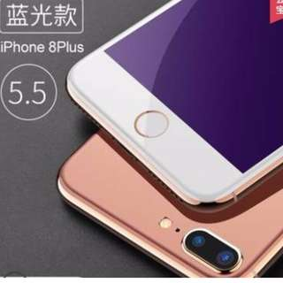 iPhone8     iPhone8Plus抗藍光鋼化膜白框 黑框5.5 4.7