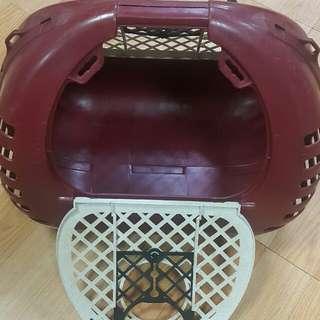 貓狗寵物塑膠提籃(硬殼)兩側窗可開