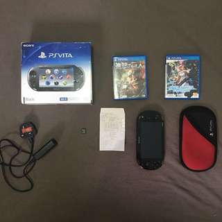 PS vita with free 2 game