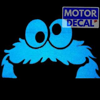 Reflective Cookie Monster Decal