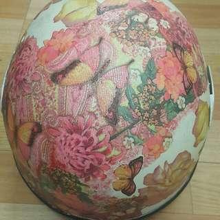 超美的手工復古彩繪拼貼安全帽 全罩式安全帽