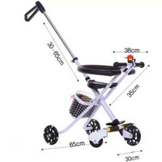 Portable, lightweight and foldable stroller / tricycle