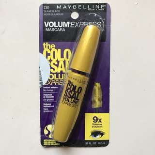 🌞 MAYBELLINE COLOSSAL VOLUM' EXPRESS MASCARA IN GLAM BLACK 🌞