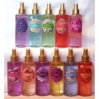 From P 280: Victoria's Secret Body Mist