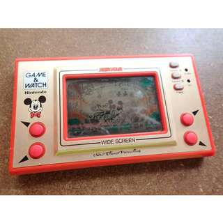 Nintendo Game And Watch Widescreen Mickey Mouse 1981 MC-25