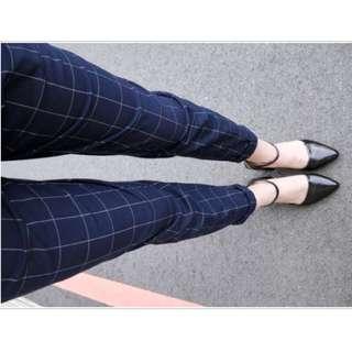 Mint 藍爸爸 格子褲 西裝褲 Size S