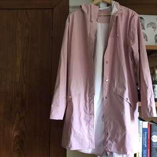 RAINS coat, dusty pink