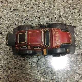 非洲購回~手工汽車木雕藝品~可當擺設