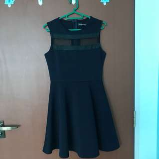 Flare Dress with Mesh