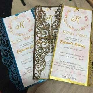 Debut/ Wedding Invitations