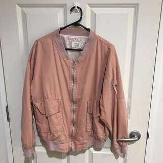 PINK COTTON BOMBER