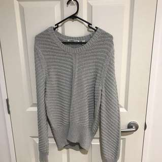 COUNTRY ROAD GREY RIBBED KNIT