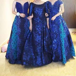 Blue dress pesta rental gaun wedding