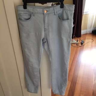 H&M light blue denim