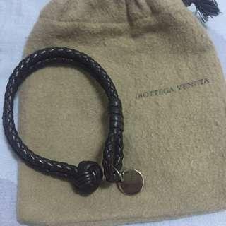 Bottega Veneta雙環編織手環 褐色