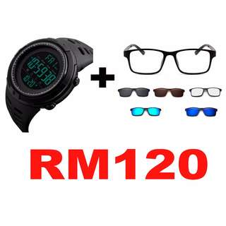 PROMO PACKAGE SMARTWATCH + POLARIZES MAGNETIC 6 IN 1 SUNGLASSES