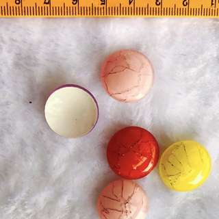 Colorful acrylic buttons supply 10 per pack