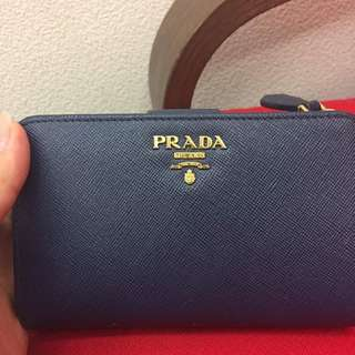 🚚 Prada 經典防刮 寶藍 中夾 大容量