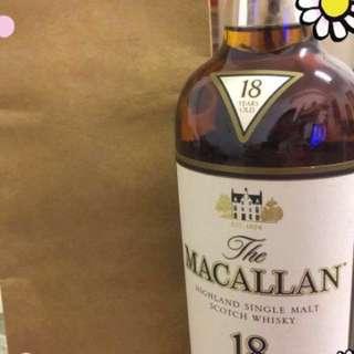 麥卡倫 whisky 18y(1994)無盒;市面貨源極少