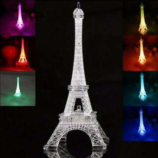 ❤️LED Eiffel Tower (Change 7 Colors Light) - #UOBPayNow