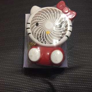 可愛貓 類似凱蒂貓 USB充電小風扇