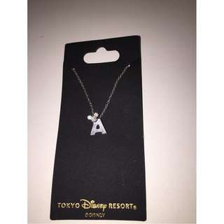Disney 'A' Necklace