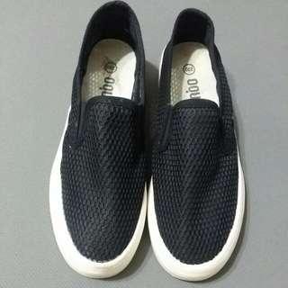 🚚 💗 黑色懶人鞋 休閒鞋 布鞋