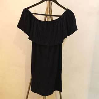 Off shoulder Navy Blue dress size s