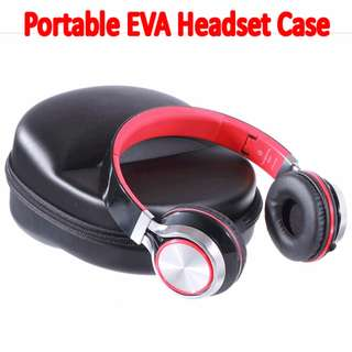 TCP053 Portable EVA Zipper Headset Earpiece Case