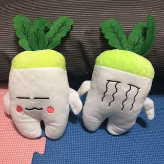 白蘿蔔 表情玩偶