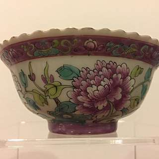 Straits Chinese Peranakan Nonya famille rose bowl (BL05)