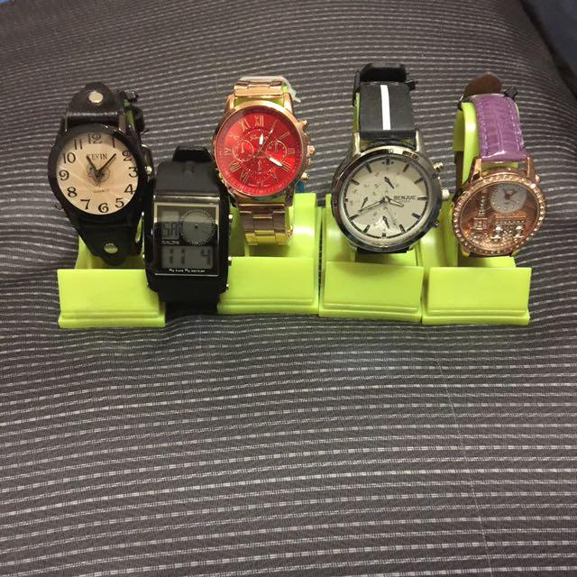 手錶全新5支不囉嗦全賣~出清大拍賣