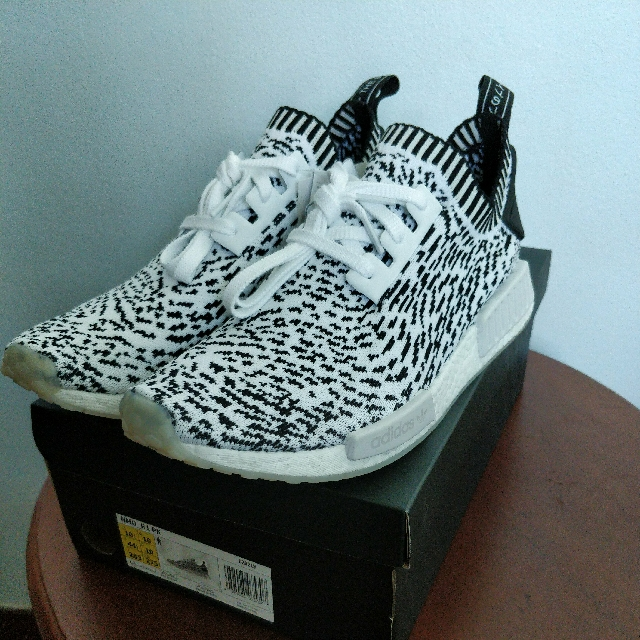 63f6e0fa4e4a adidas NMD R1 Primeknit Zebra White