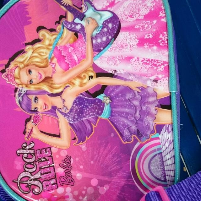 auth barbie kids bag