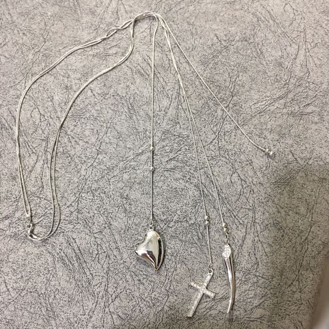 Authentic Long Silver Necklace