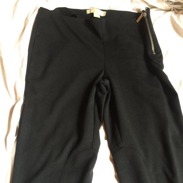Authentic michael kors leggings with side zipper