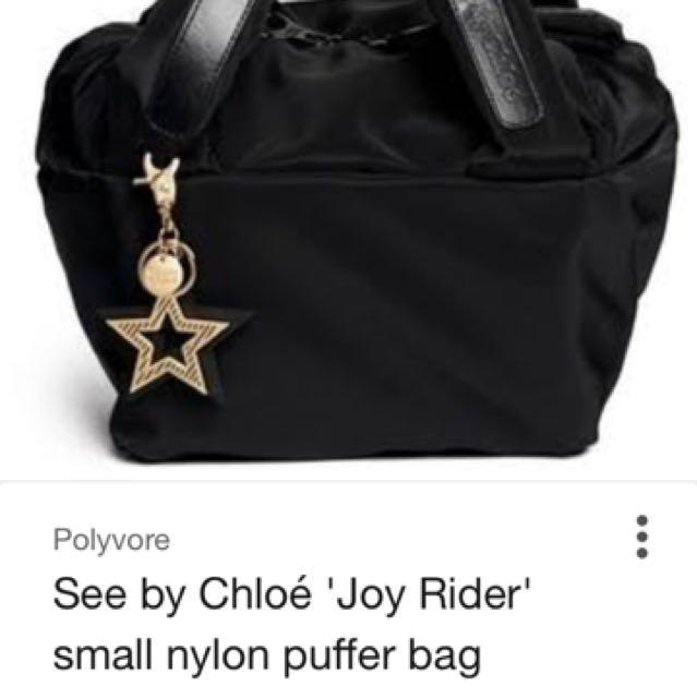 Authentic see by Chloe joyrider nylon bag