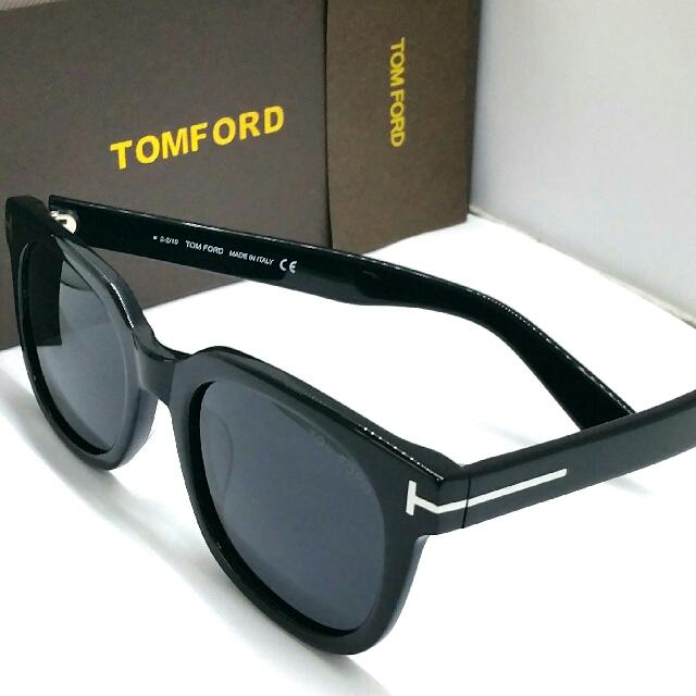1ef2cfc029fad Authentic Tom Ford Polarized Sunglasses TF211 01B Black