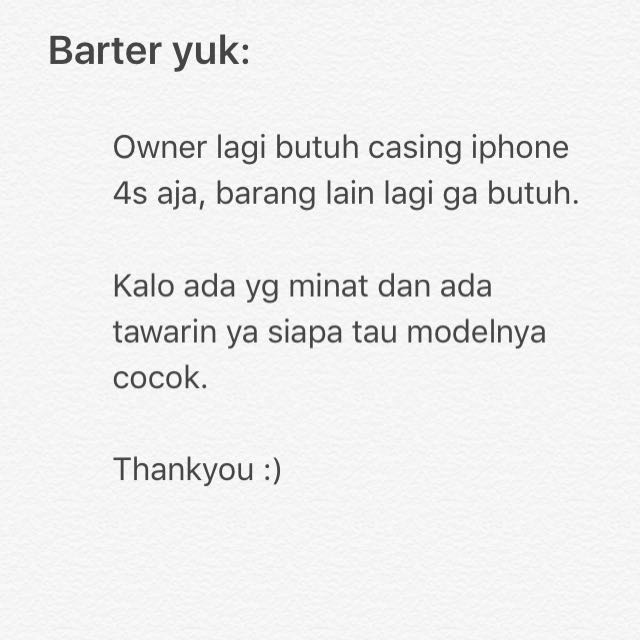 Barter Case Iphone 4s