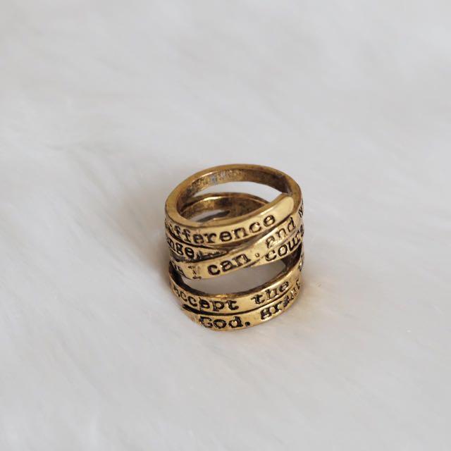 Bible Verse Ring