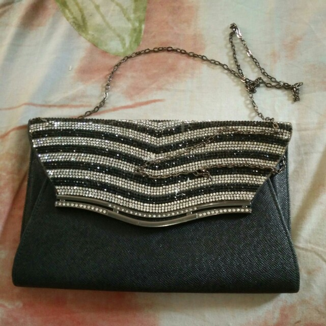 Black Glitter Slingbag