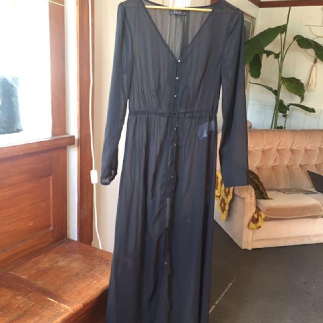 Black throw over dress